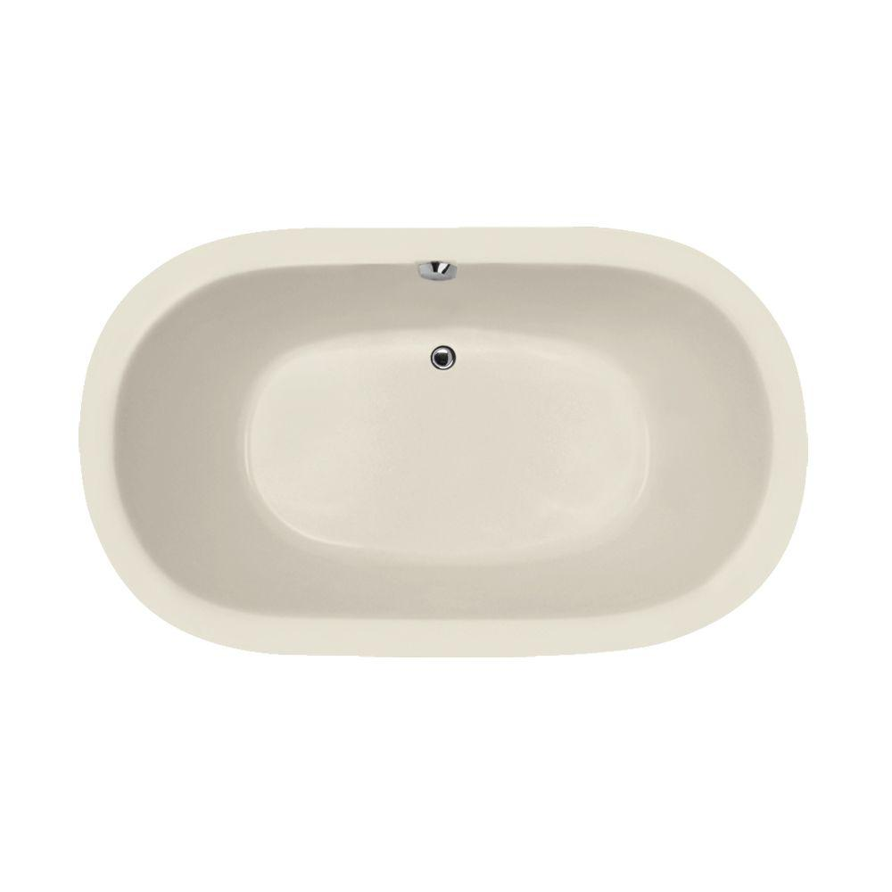 Concord 5 ft. Reversible Drain Air Bath Tub in Biscuit