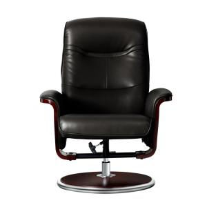 Groovy Artiva Milano Modern Bend Wood Black Leather Swivel Recliner Uwap Interior Chair Design Uwaporg