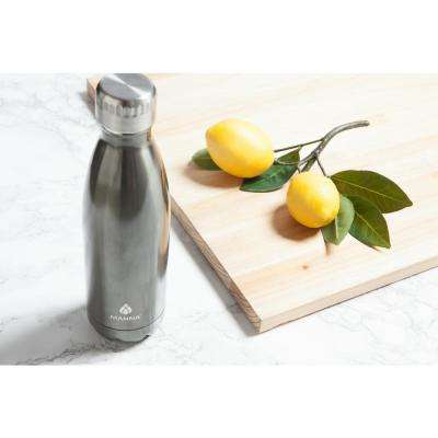 Vogue 17 oz. Metallic Pewter Vacuum Insulated Stainless Steel Bottle
