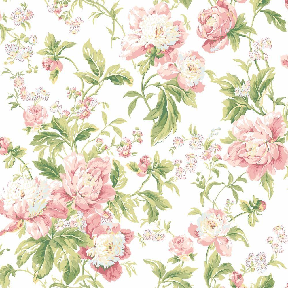 York Wallcoverings Waverly Classics Forever Yours Wallpaper Wa7804