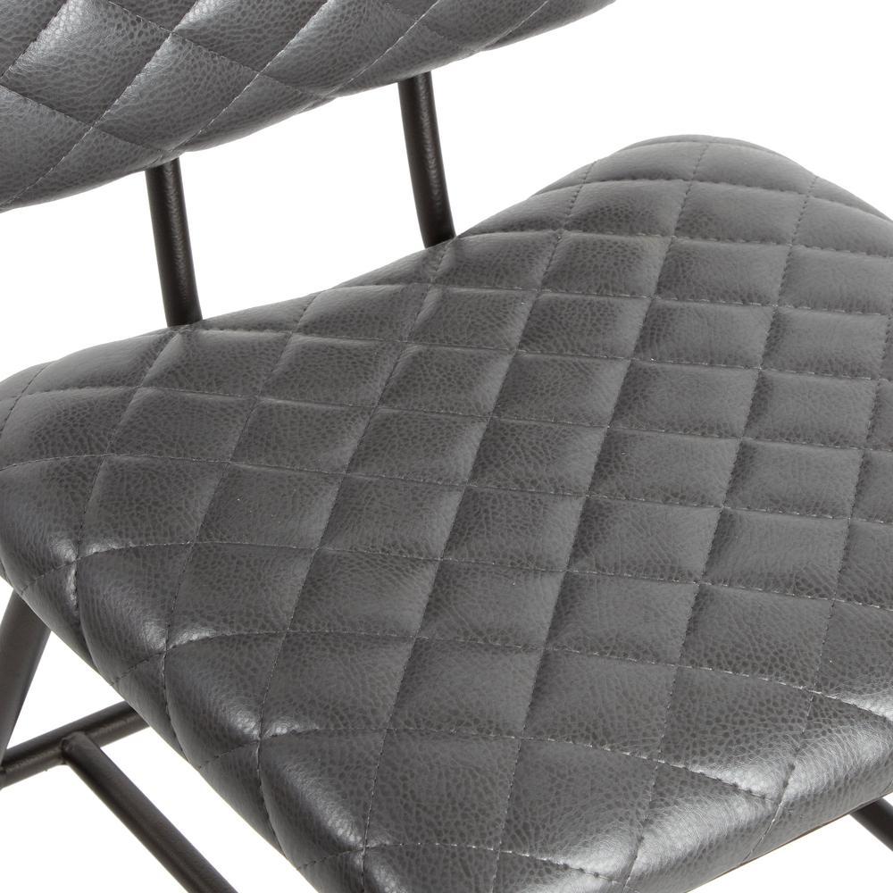 Cool Silverwood Deandra Gray Diamond Stitching Dining Chair Machost Co Dining Chair Design Ideas Machostcouk