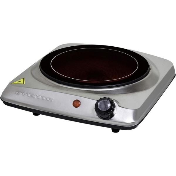 Electric Stove Portable Single Burner Dorm Use For Cooking Outdoors 1000 W White