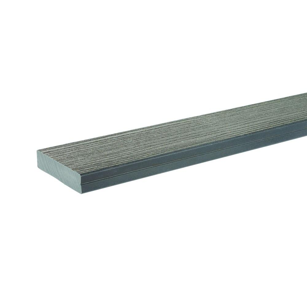 Timbertech 1 1 4 in x 5 5 in x 2 ft docksider composite for Grey composite decking