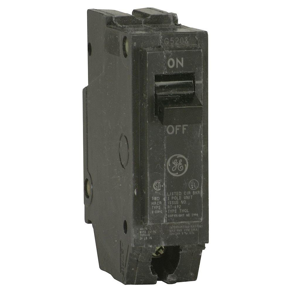 GE Q-line 20 Amp 1 in. Single Pole Circuit Breaker