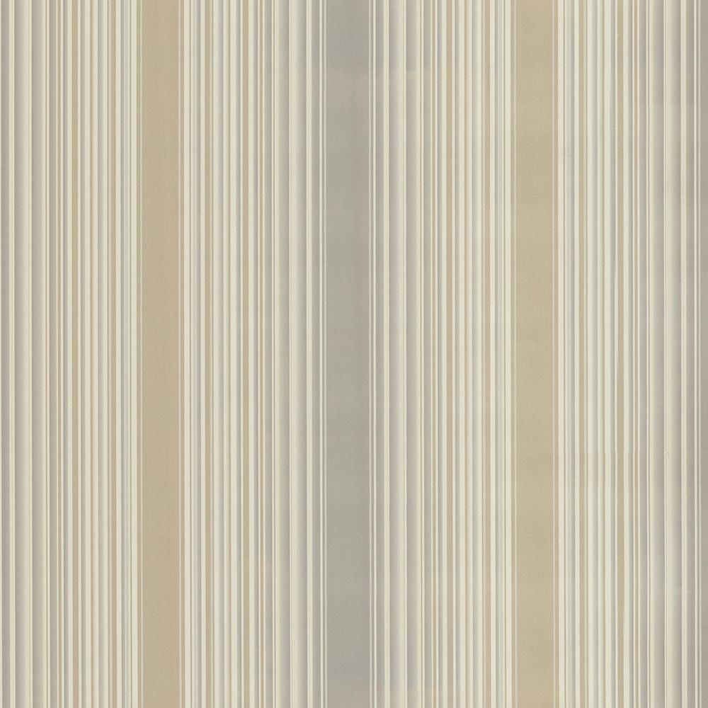 Casco Bay Beige Ombre Pinstripe Paper Strippable Roll Wallpaper (Covers 56.4 sq. ft.)