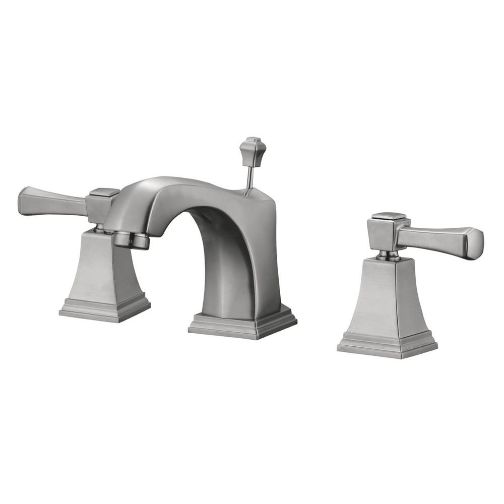Design House Torino 8 in. Widespread 2-Handle Lavatory Faucet in Satin Nickel