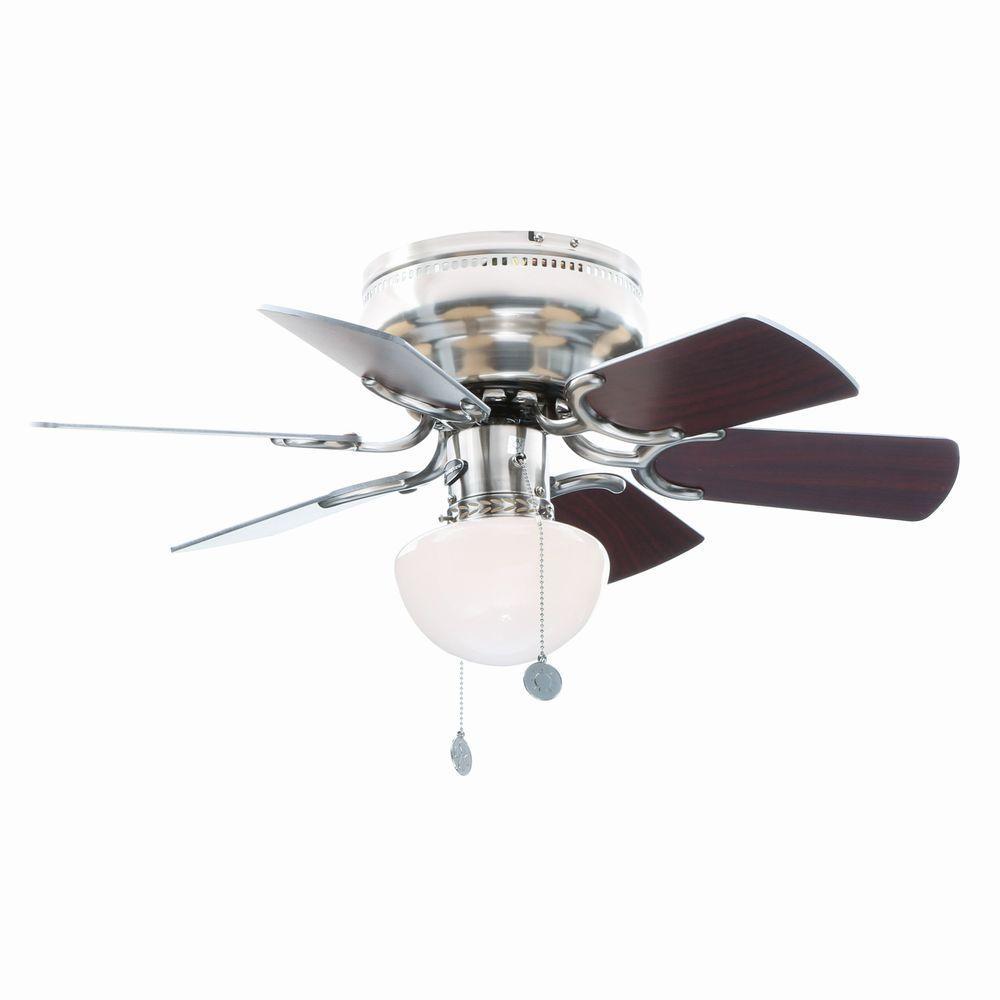 Petite 30 in. Brushed Nickel Ceiling Fan