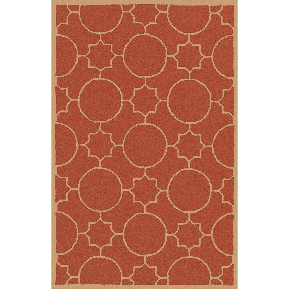 Artistic Weavers Oscar Rust 3 ft. 6 in. x 5 ft. 6 in. Area Rug