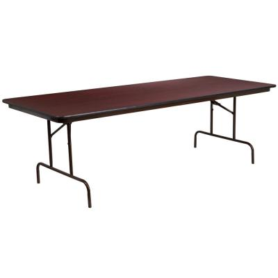 96 in. Mahogany Wood Table top Material Folding Banquet Tables
