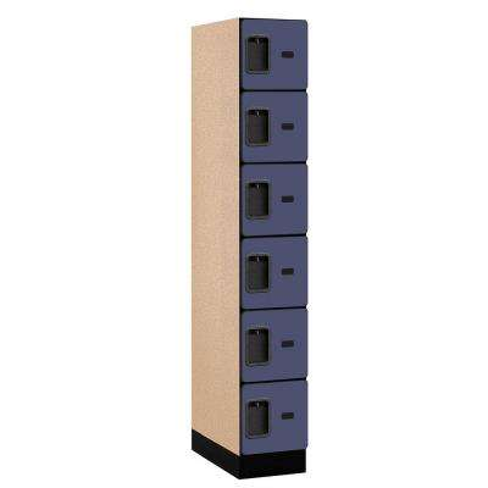 36000 Series 12 in. W x 76 in. H x 21 in. D 6-Tier Box Style Designer Wood Locker in Blue