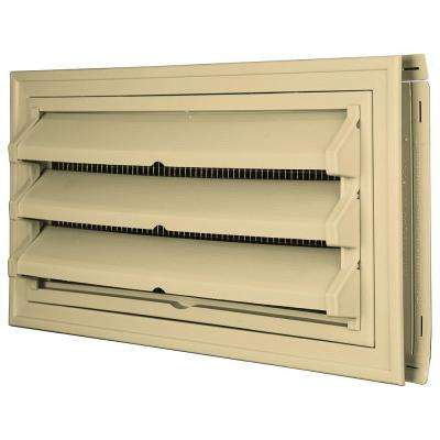 9-3/8 in. x 17-1/2 in. Foundation Vent Kit w/ Trim Ring and Optional Fixed Louvers (Galvanized Screen) #012 Dark Almond