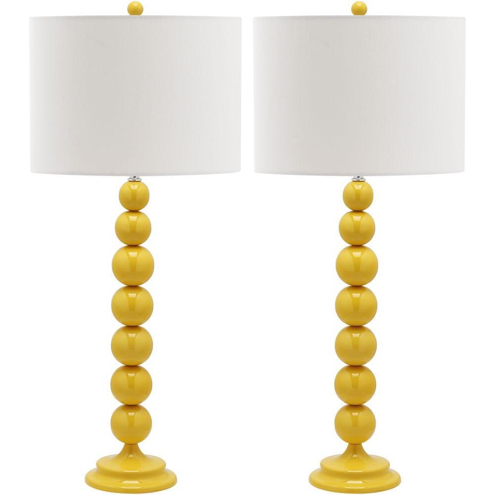 Safavieh Jenna 31 In Yellow Stacked Ball Lamp Set Of 2 Lit4090h