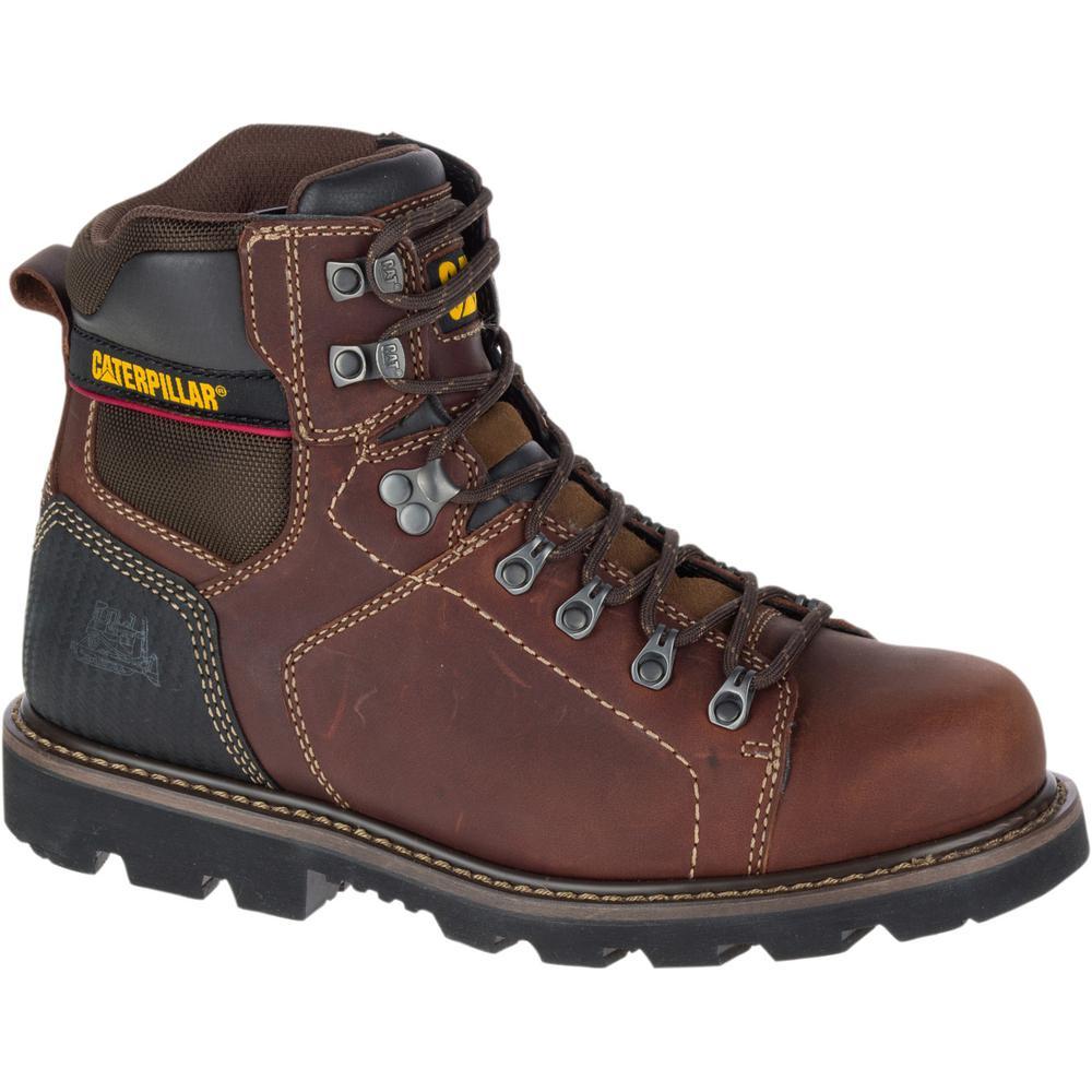 CAT Footwear Men's Alaska 2 6'' Work Boots - Soft Toe - BROWN Size 11(M)