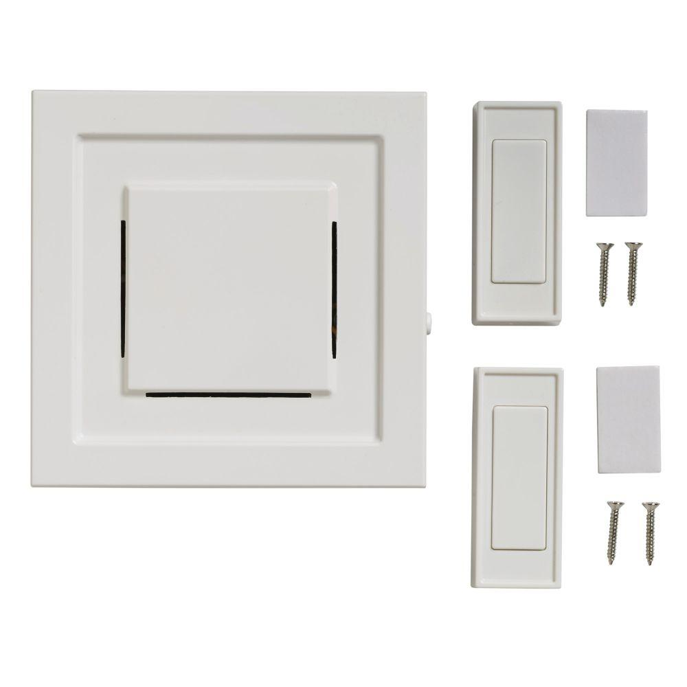 Wireless Plug-In Door Bell Kit with 2-Push Button White  sc 1 st  The Home Depot & Wireless - Door Chimes \u0026 Kits - Doorbells \u0026 Intercoms - The Home Depot