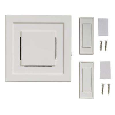 Wireless Plug-In Door Bell Kit with 2-Push Button, White