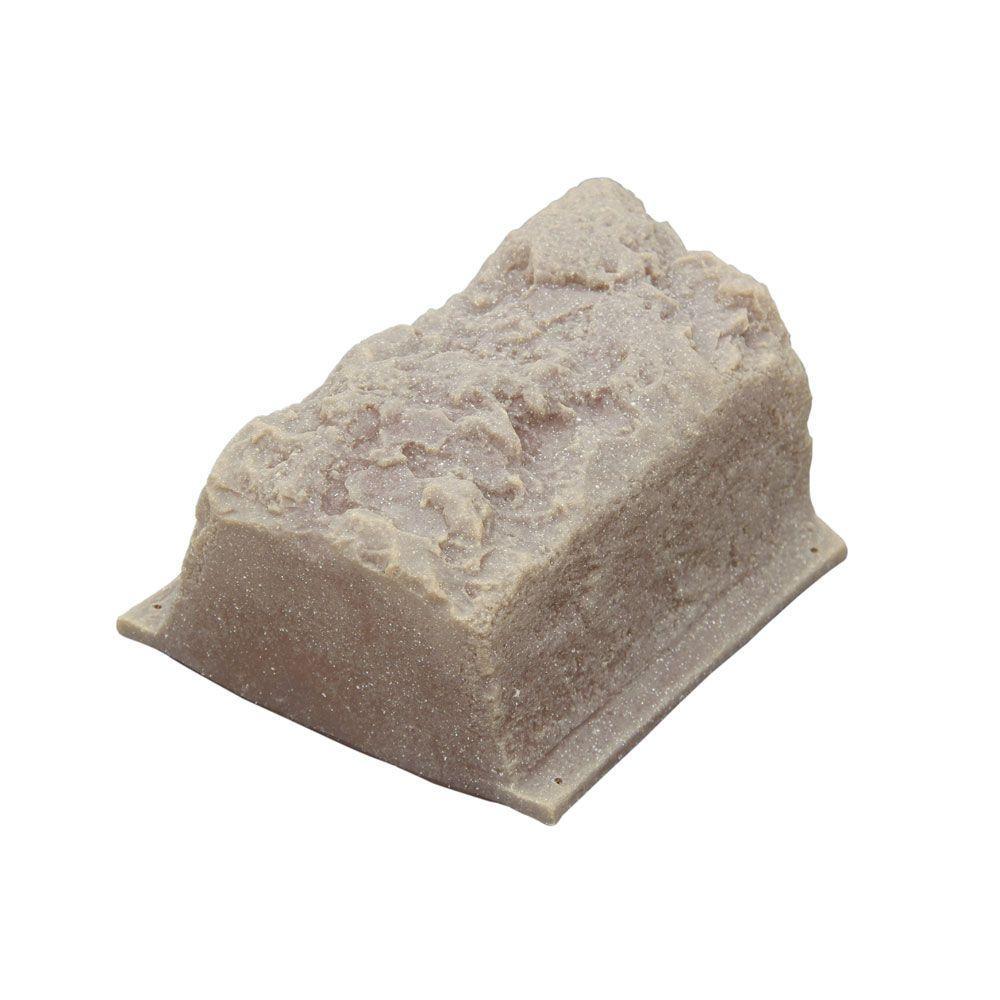 10 in. L x 4 in. W x 4 in. H Small Plastic Block Edging 16-Piece Kit in Tan/Brown