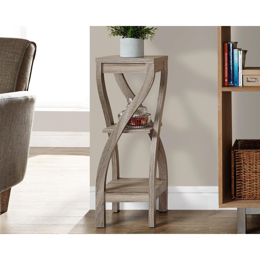 Monarch Specialties Dark Taupe Indoor Plant Stand-I 2480 - The ...