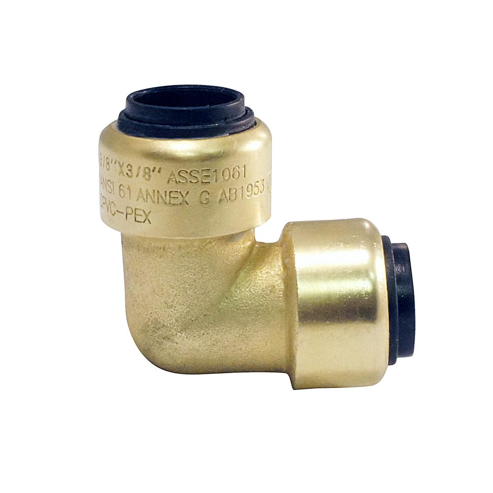 Tectite 3/8 in. Brass Push-To-Connect 90 Degree Elbow