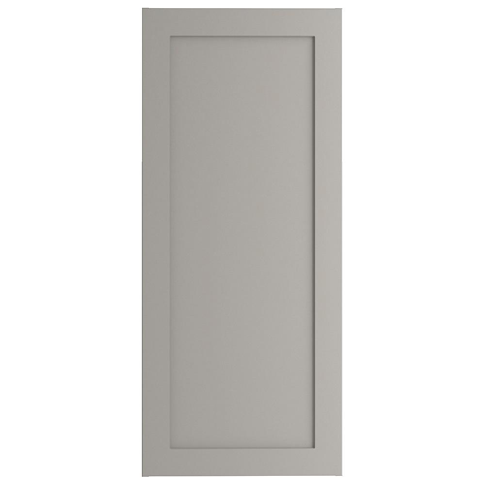 Hampton Bay Cambridge Assembled 18x40x12.5 in. Wall Cabinet in Gray