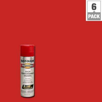 15 oz. High Performance Enamel Gloss Safety Red Spray Paint (6-Pack)