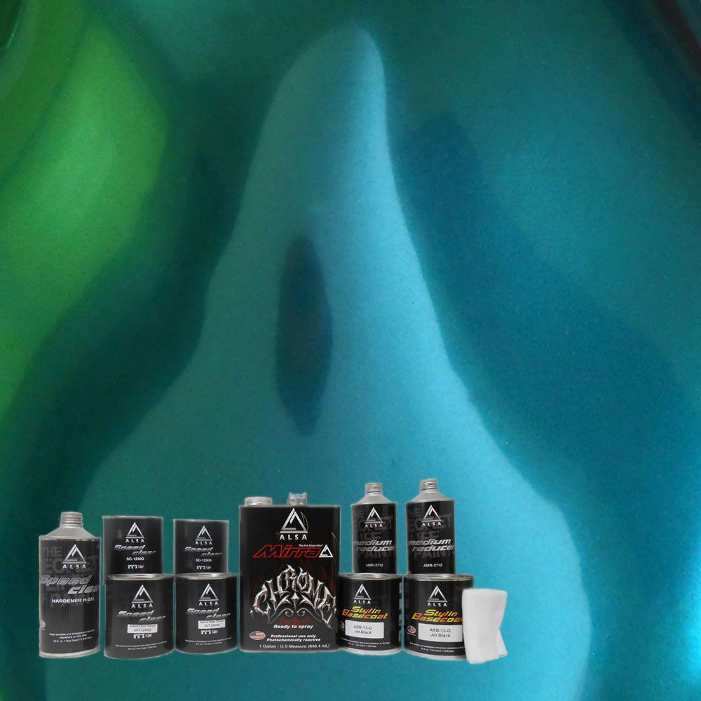 Alsa Refinish MirraChrome 1-gal. Forest Green Chrome Paint Kit