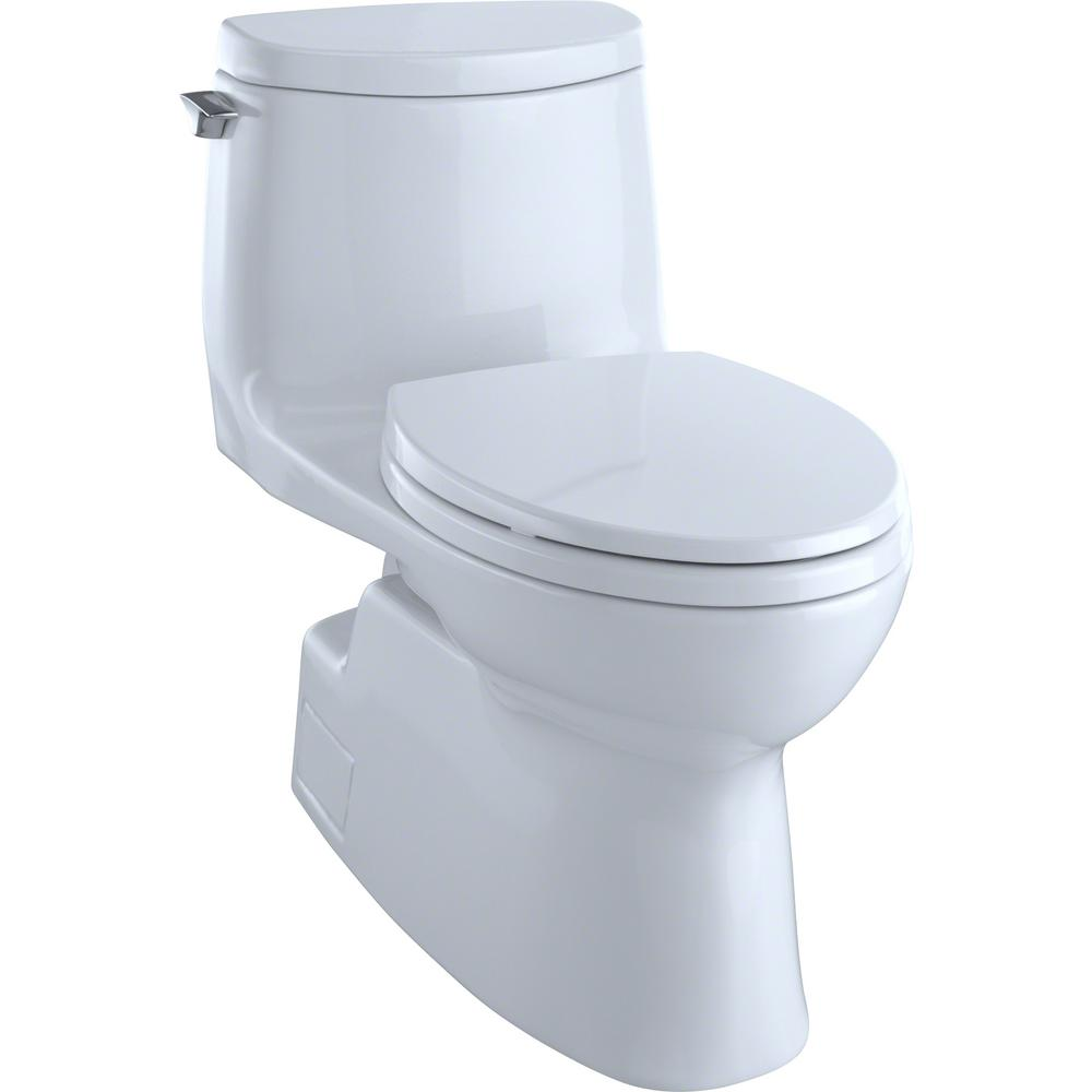 Sensational Toto Carlyle Ii 1 Piece 1 0 Gpf Single Flush Elongated Skirted Toilet With Cefiontect In Cotton White Seat Not Included Beatyapartments Chair Design Images Beatyapartmentscom
