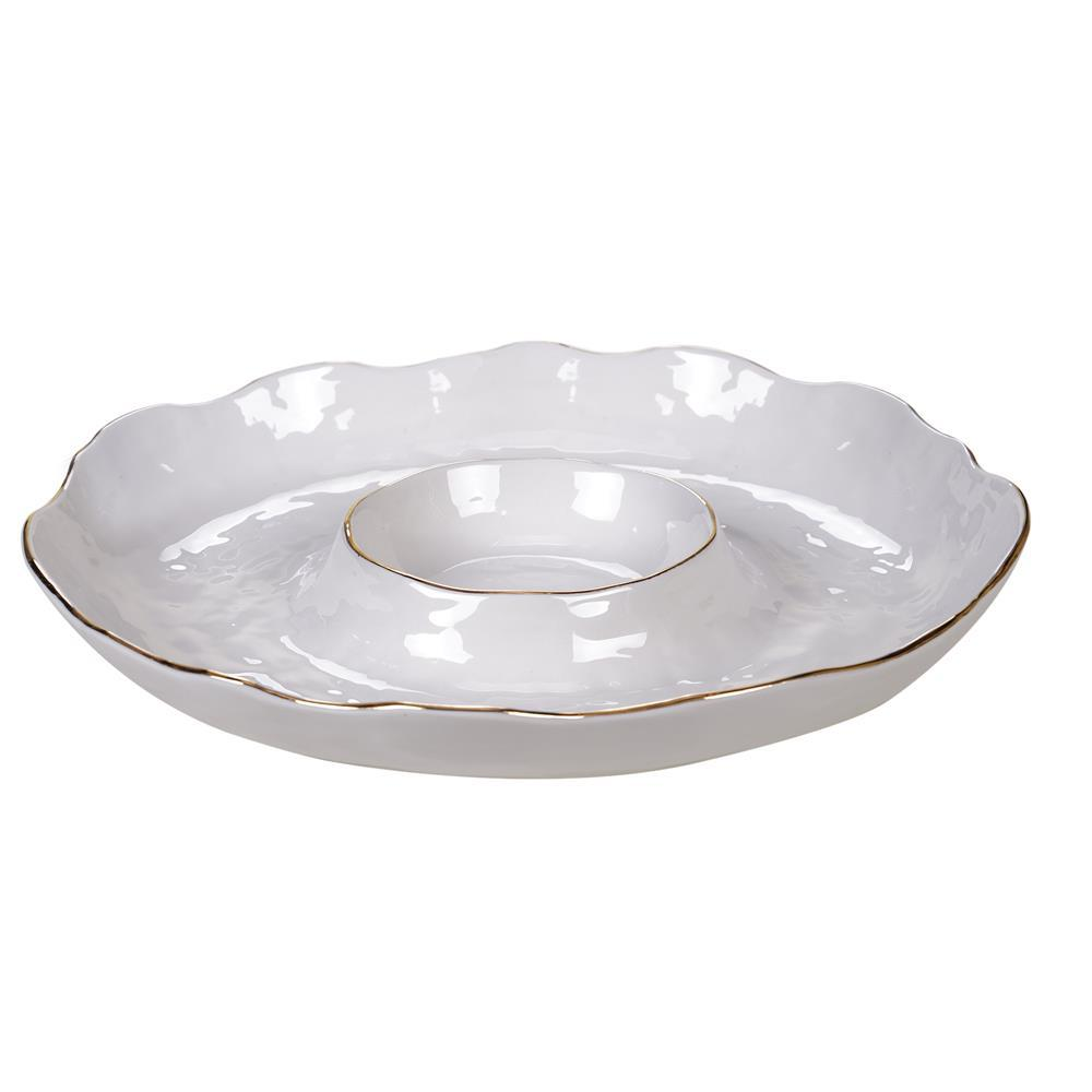 Multi-Colored 13.5 in. Elegance Chip and Dip