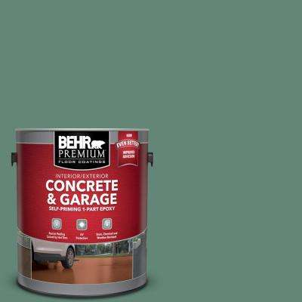 1 gal. #PFC-44 Green Adirondack Self-Priming 1-Part Epoxy Satin Interior/Exterior Concrete and Garage Floor Paint