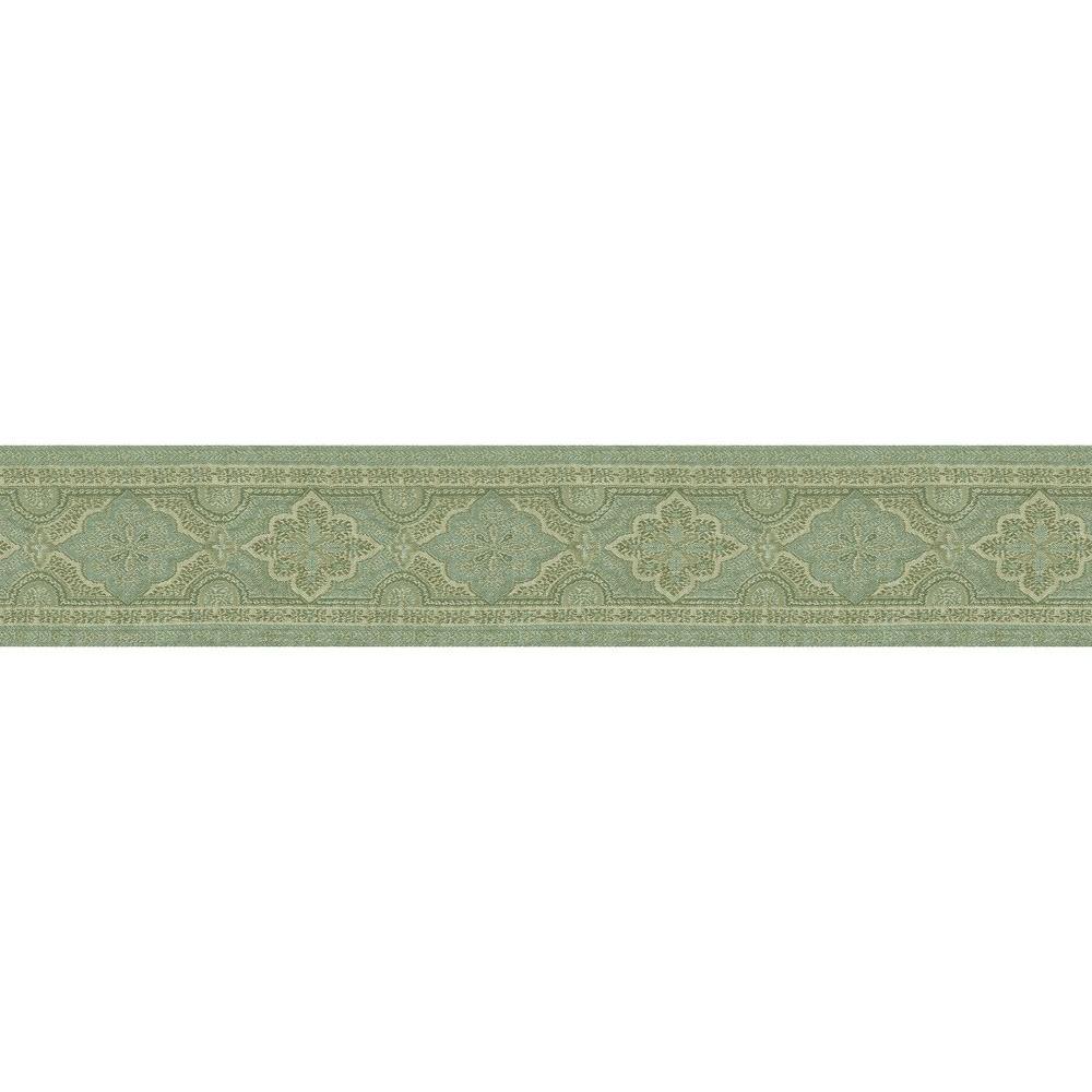Alfred Aqua Paisley Aqua Wallpaper Border Sample