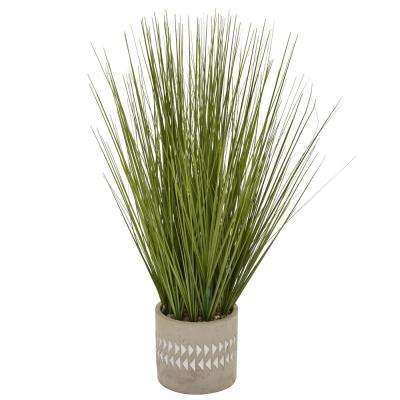 21 in. Faux Grass in Flower Pot