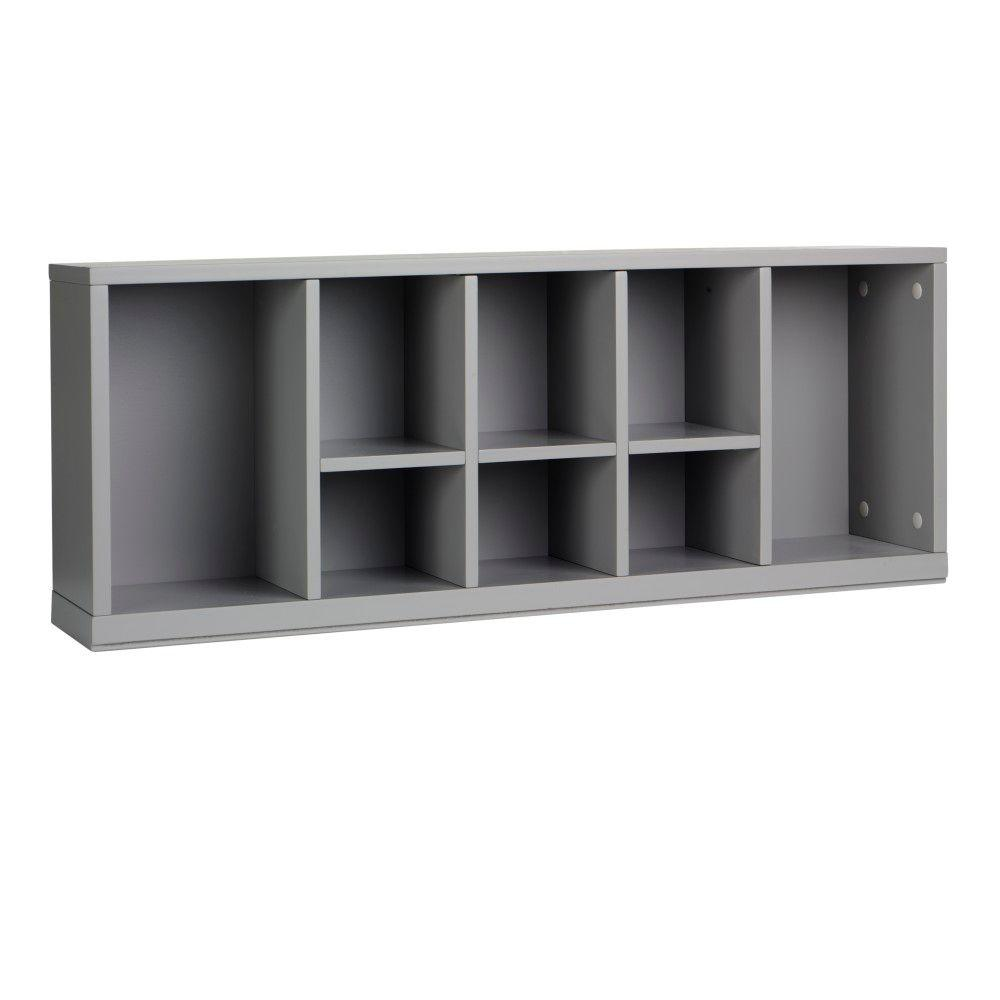 Home Decorators Collection 33 in. W x 13 in. H Cement Gray Stackable Center 8-Cubbie Organizer