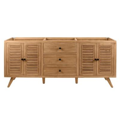 Harper 72 in. Vanity Cabinet Only in Natural Teak