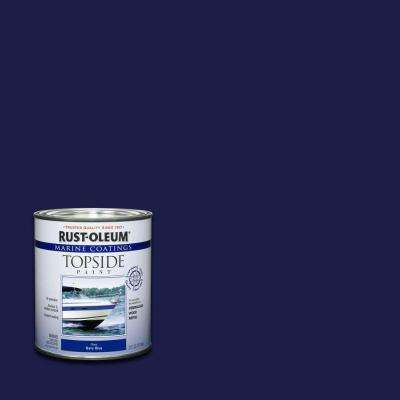 1 qt. Gloss Navy Blue Topside Paint (4-Pack)