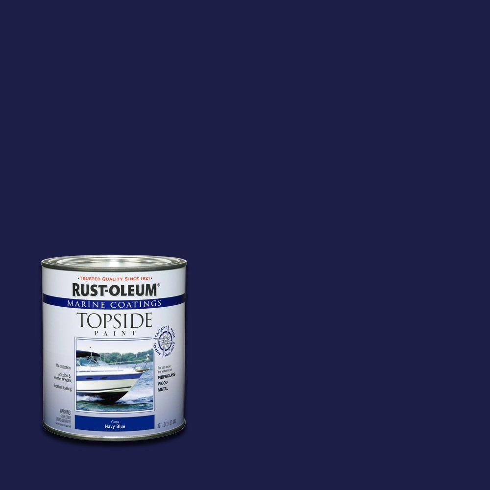 Rust-Oleum Marine 1 qt. Navy Blue Gloss Topside Paint (Case of 4)