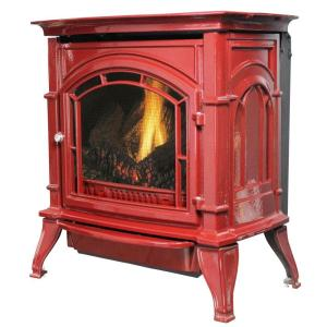Ashley Hearth Products 31,000 BTU Vent Free Red Enameled Porcelain Cast Iron LP... by Ashley Hearth Products