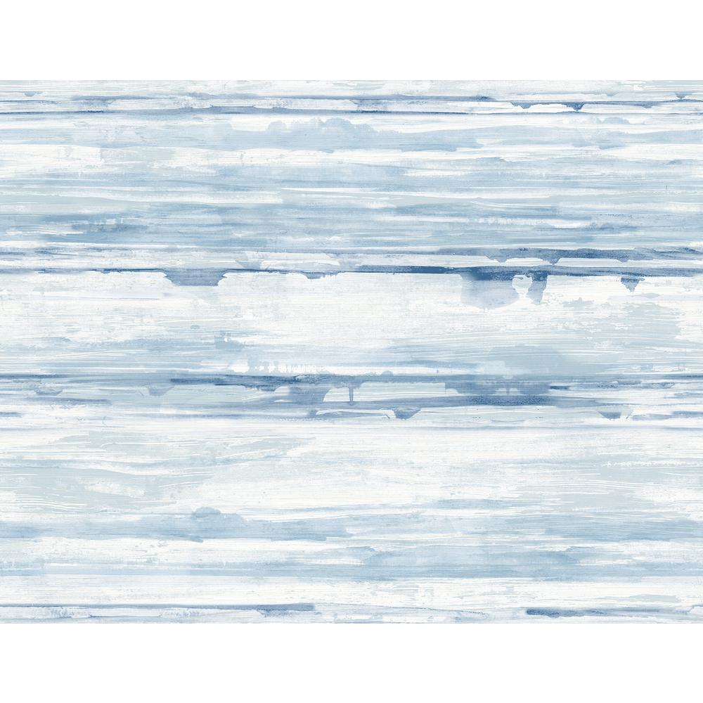 A Street Sandhurst Blue Abstract Stripe Wallpaper Sample 2949