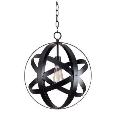 Global 1-Light Black Pendant