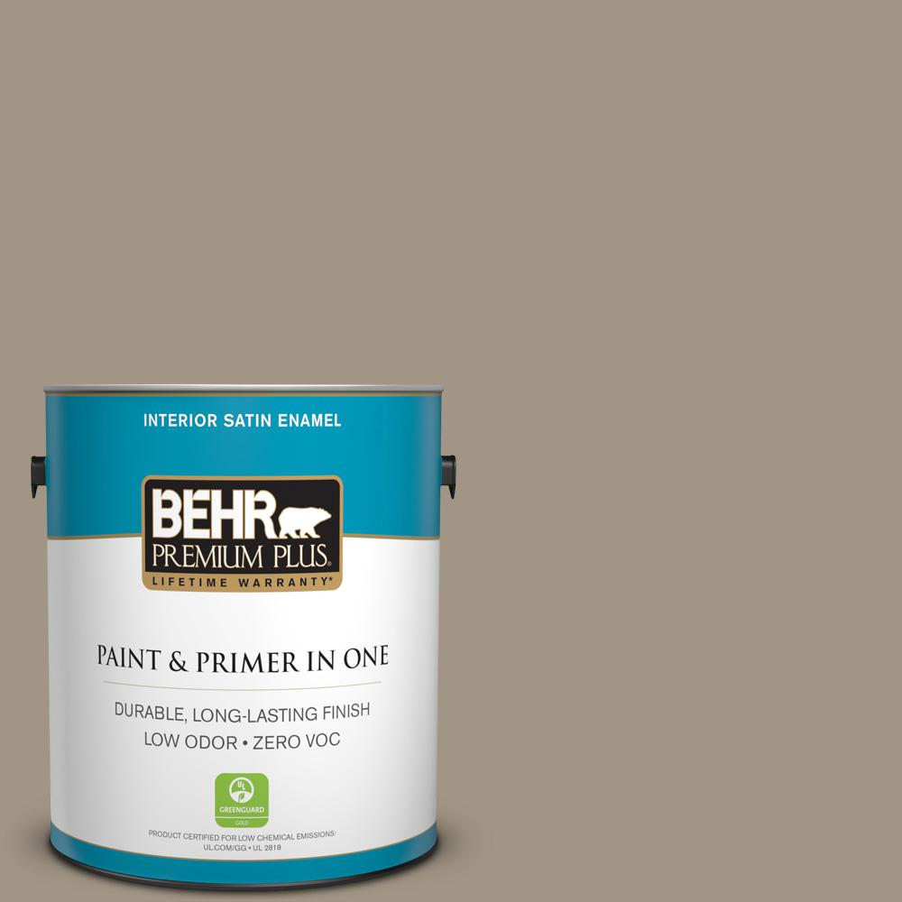 1 gal. #PPU7-23 Rolling Pebble Zero VOC Satin Enamel Interior Paint