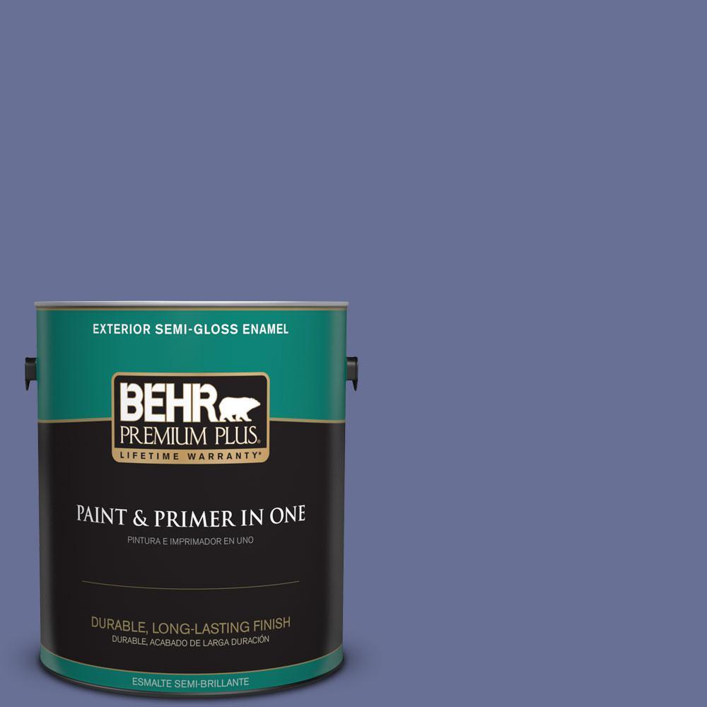 1-gal. #620D-6 Royal Intrigue Semi-Gloss Enamel Exterior Paint