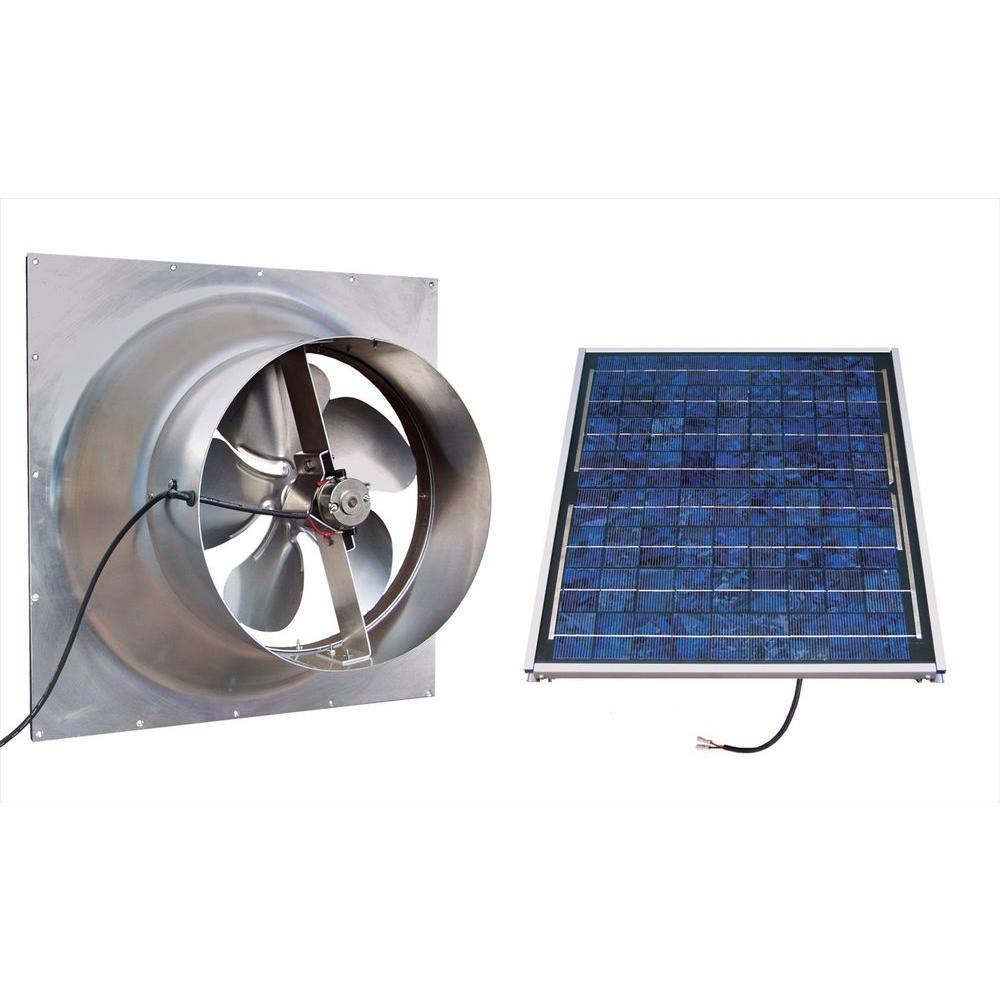 SolarAtticFan Gable 20 Watt Solar-Powered Attic Fan  sc 1 st  Home Depot & SolarAtticFan Gable 20 Watt Solar-Powered Attic Fan-SAFG20-SS - The ...