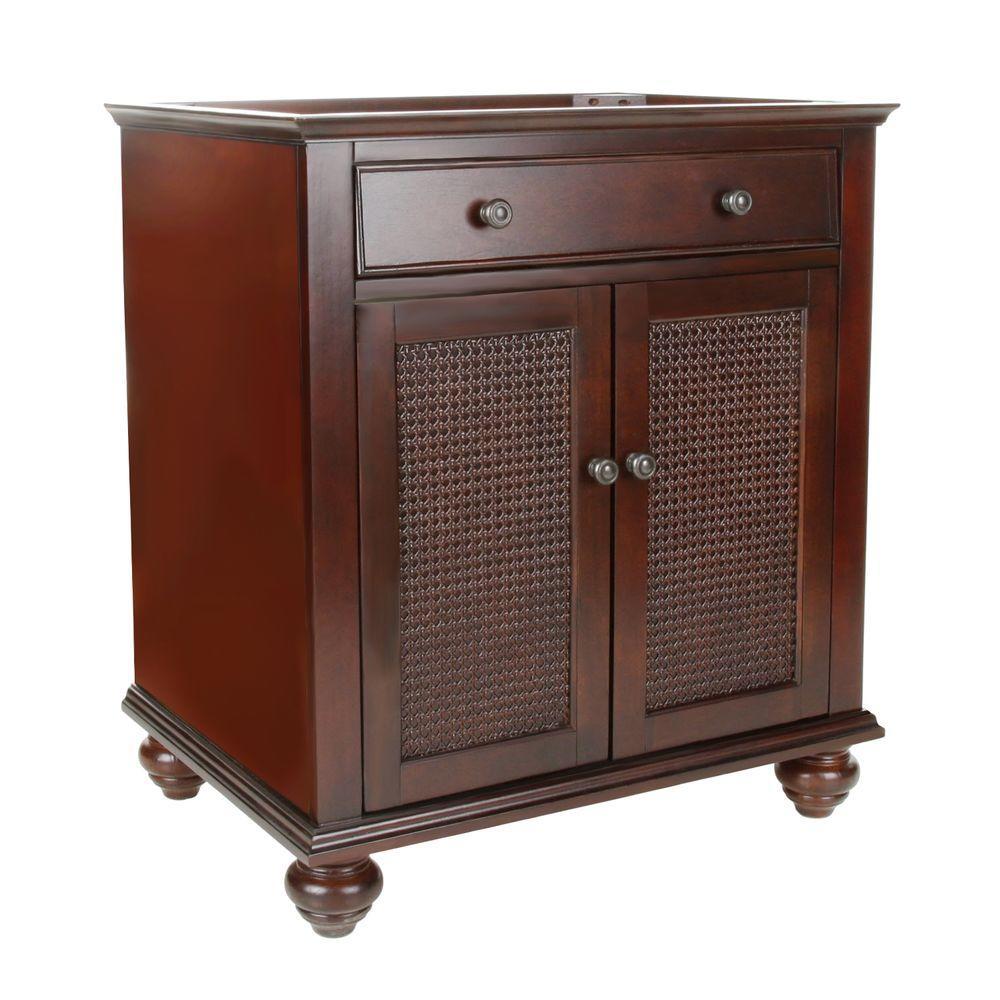 Bimini 30 in. W x 22 in. D x 35 in. H Vanity Cabinet Only in Espresso