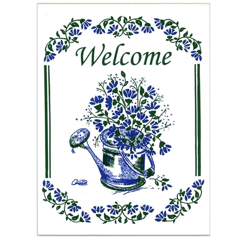 Watering Can Welcome Plaque