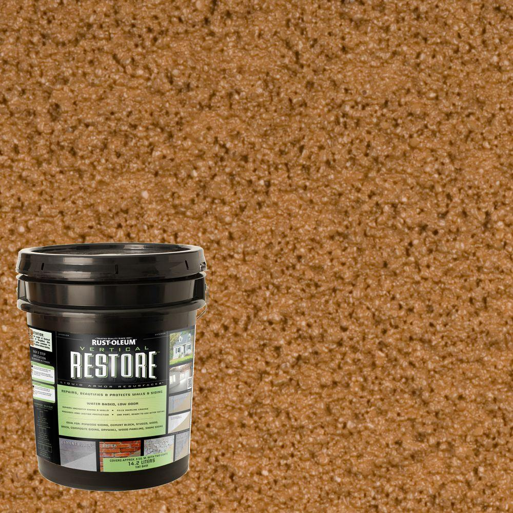 Rust-Oleum Restore 4-gal. Saddle Vertical Liquid Armor Resurfacer for Walls and Siding