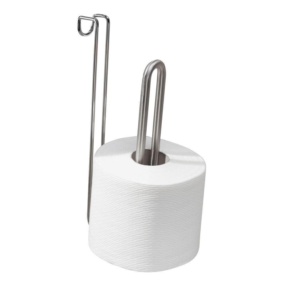 interDesign Forma Ultra Over Tank Toilet Paper Holder in Brushed ...