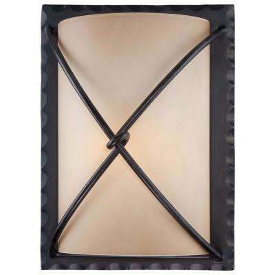 Aspen II 1-Light Bronze Outdoor Wall Mount Lantern