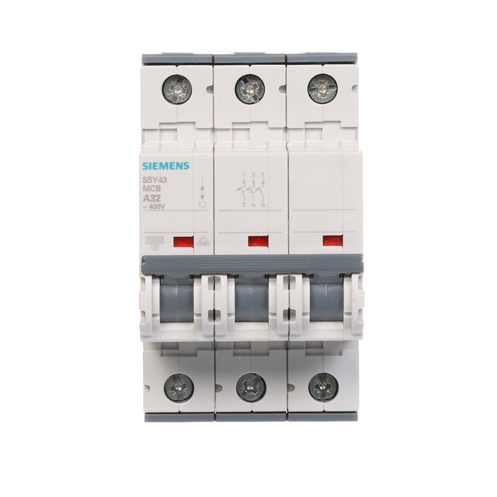 Din Rail Siemens Circuit Breakers Power Distribution The Control For Breaker S 32 Amp Triple Pole Tripping Characteristic C Supplementary Protector