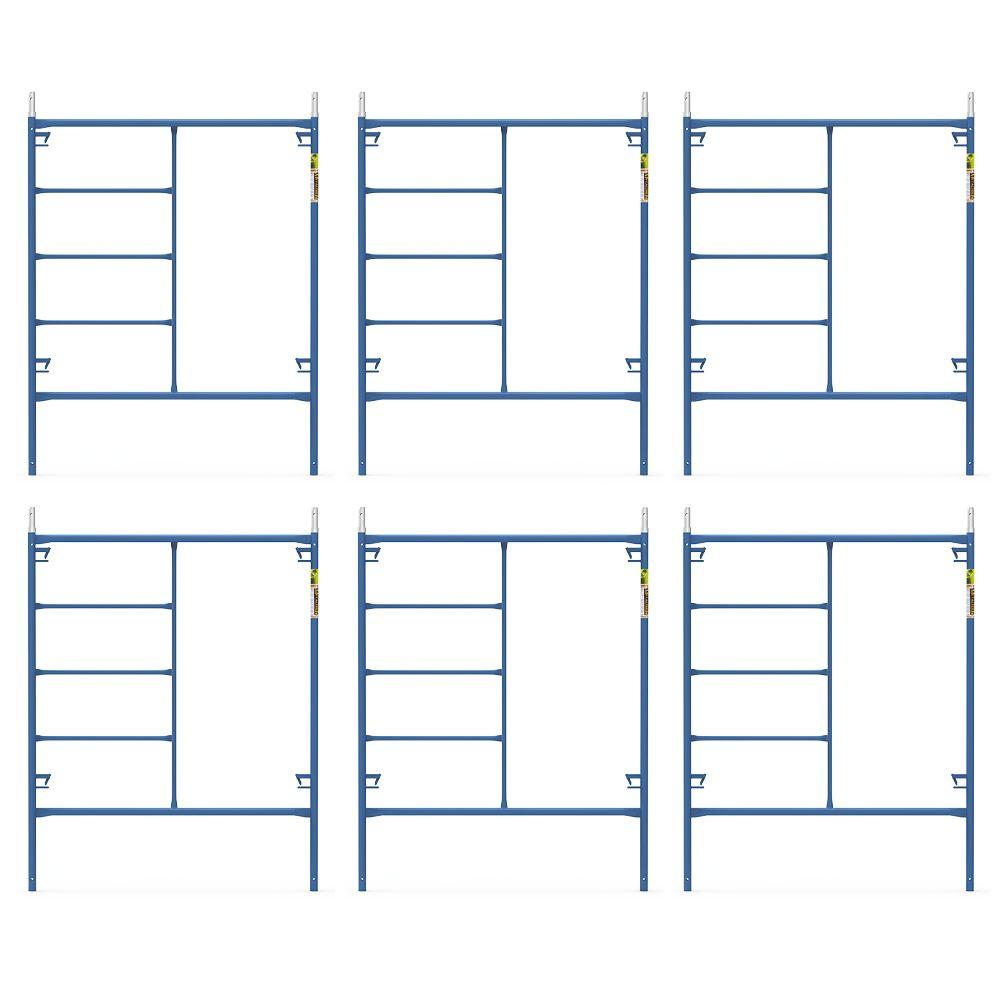 Saferstack 6.4 ft. x 5 ft. Mason Scaffold Frame (6-Pack)