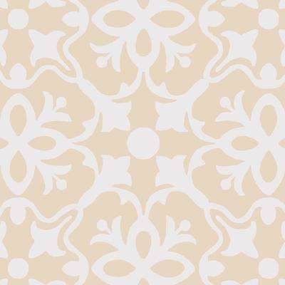 Brooklyn Beige 13.2 ft. Wide x Your Choice Length Residential Vinyl Sheet Flooring