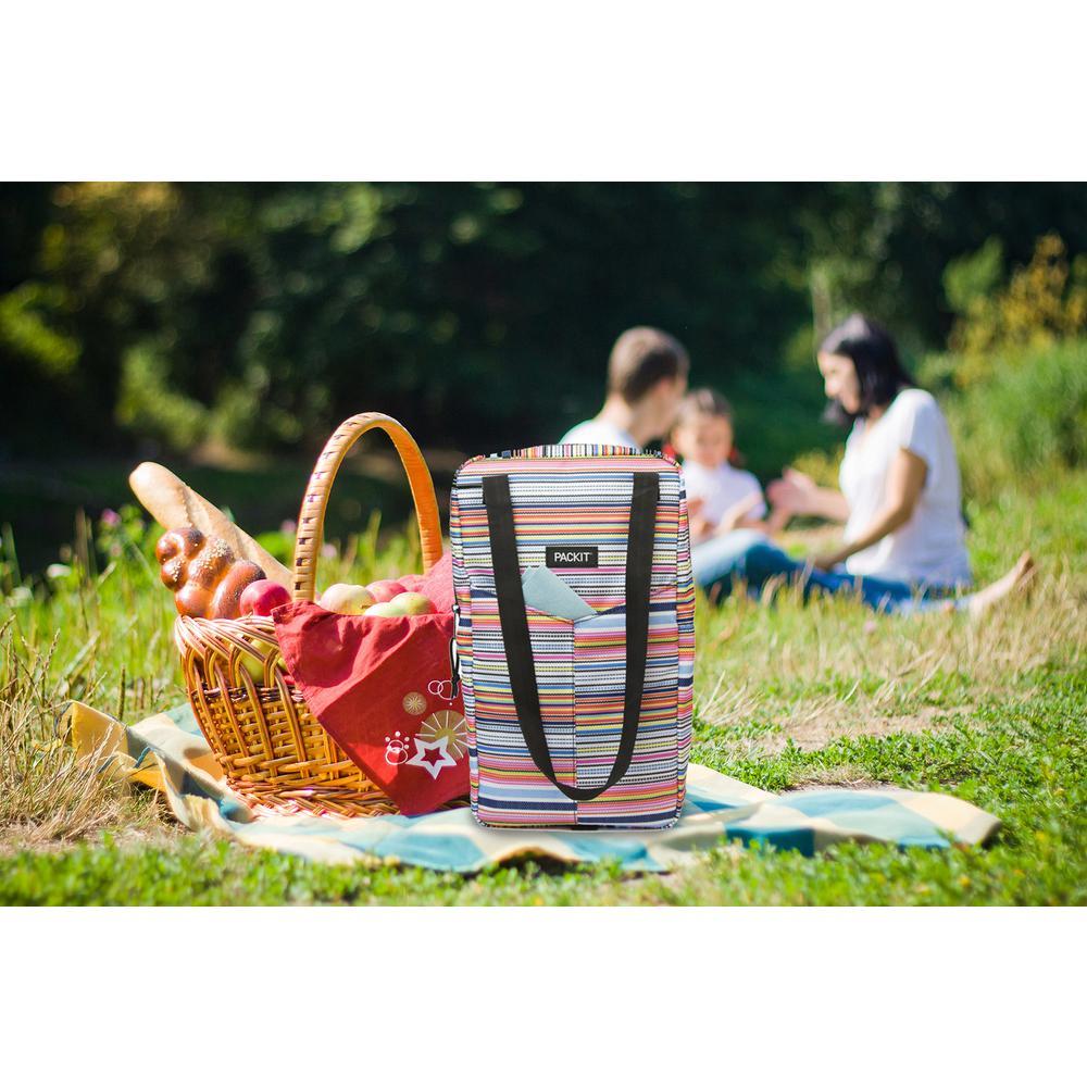 Blanket Stripe Double Wine Bag