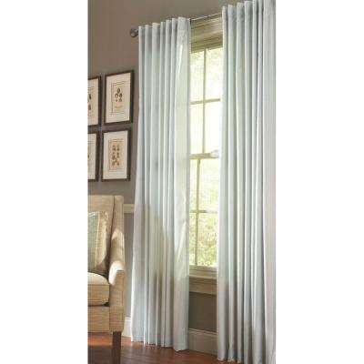 Faux Silk Light Filtering Window Panel in Rainwater - 50 in. W x 84 in. L
